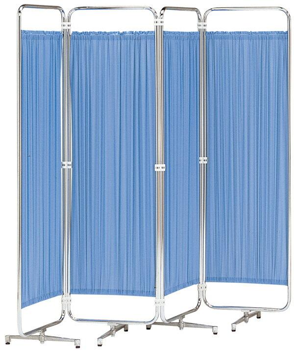 【送料無料】防炎仕様シンプルなスクリーン衝立 折り畳みAS-46-4(四つ折)(ブルー・グリーン・ベージュ・ピンク・ホワイト)幅1800×高さ1260【smtb-TK】【FS_708-10】