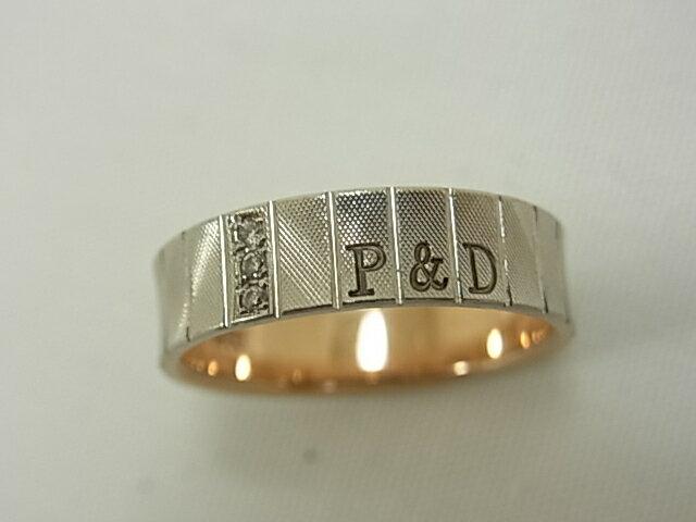 【送料無料】P&D ピンキーアンドアイアン PT950K18 ダイヤ0.03ct #12 指輪【中古】【smtb-TD】