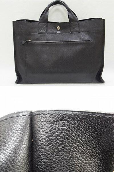 【送料無料】エルメス HERMES サックベルラン40 ブラック □にK刻印 メンズ レディース バッグ 【中古】