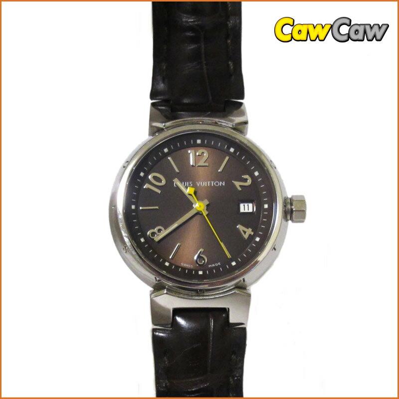 ルイヴィトン 腕時計/タンブール/Q1211 レディース クォーツ/ブラウンベルト【送料無料】【中古】LOUIS VUITTON