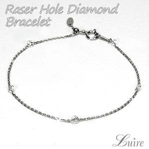 レーザーホール ダイヤモンド0.60ct ブレスレット プラチナ ギフト 誕生日 プレゼント 記念日   自分ご褒美