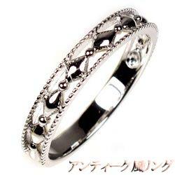 プラチナ900 【送料無料】アンティーク 地金リング 結婚指輪 ギフト 誕生日 マリッジリング