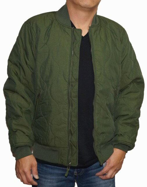 リーバイス Levis ジャケット MA-1 カーキ 中綿 メンズ ミリタリー サーモア 冬物 フライトジャケット Thermore キルトジャケット
