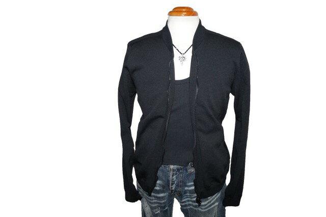 コムサイズム COMME CA ISM トラックジャケット MA1 タイプ 黒 メンズ ジップアップ 春物 秋物 ジャージ ブラック