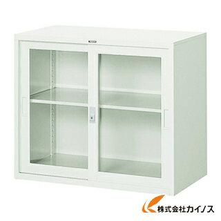 TRUSCO スタンダード書庫(A4判D515)ガラス引違W880XH750 FJG52-G7