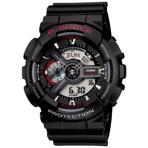 カシオ Gショック GA-110-1AJF ビッグフェイス CASIO G-SHOCK メンズ腕時計 アナデジ 国内正規品 刻印対応、有料 取り寄せ品 【コンビニ受取対応商品】