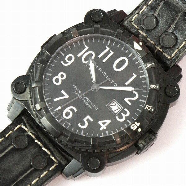 ☆ハミルトン☆ Khaki Navy BelowZero H78575393 H70 655 723 Automatic メンズ SS 腕時計 ★HAMILTON 【質屋出店】【中古】