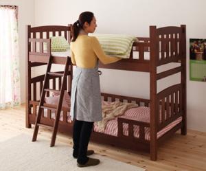 【送料無料】 2段ベッド 二段ベッド 天然木 コンパクト 子供 おしゃれ すのこ ロフトベッド 木製 2段ベット 二段ベット 北欧 省スペース 【RCP】