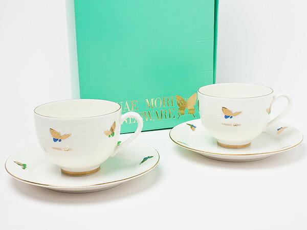 【送料無料】HANAE MORI(ハナエ モリ)ペア ティーカップ&ソーサー hanaemori-12お茶のふじい・藤井茶舗