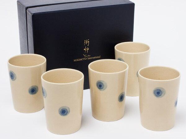 【送料無料】ミキモト インターナショナル 遊炉(YUURO)湯呑 5客セット mikimoto-09お茶のふじい・藤井茶舗