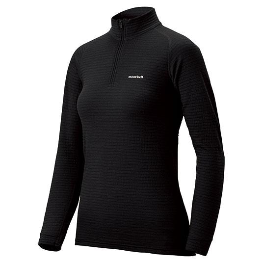 mont-bell(モンベル) SPMW EXP. ハイネックシャツ WS/BK/S 1107584女性用 ブラック 防寒インナー レディースウェア ウェア 女性用インナー 長袖シャツ アウトドアウェア