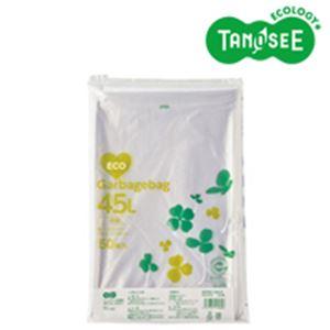 (まとめ)TANOSEE ポリエチレン収集袋 透明 45L 50枚入×15パック