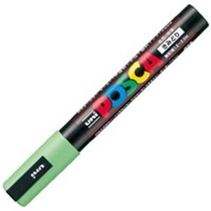 (業務用200セット) 三菱鉛筆 ポスカ/POP用マーカー 【中字/黄緑】 水性インク PC-5M.5