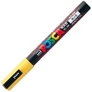(業務用200セット) 三菱鉛筆 ポスカ/POP用マーカー 【細字/黄】 水性インク PC-3M.2