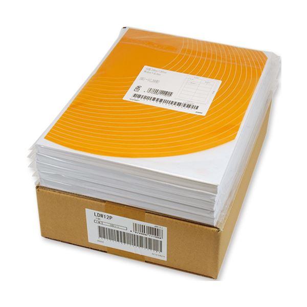 (まとめ) 東洋印刷 ナナワード シートカットラベル マルチタイプ A4 12面 86.4×46.6mm 四辺余白付 LDW12PB 1箱(500シート:100シート×5冊) 【×5セット】