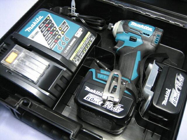 マキタ充電インパクトドライ� TD160DRGX (�) 14.4V �ッテリー(6.0Ah)2個・充電器・ケースセット