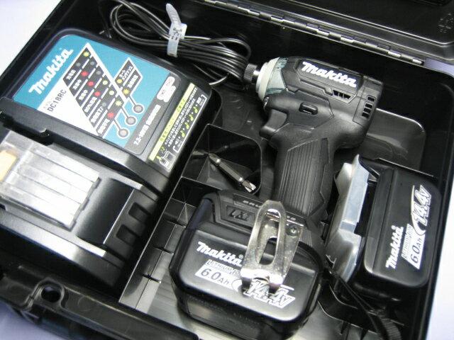 マキタ充電インパクトドライ� TD160DRGX (黒) 14.4V �ッテリー(6.0Ah)2個・充電器・ケースセット