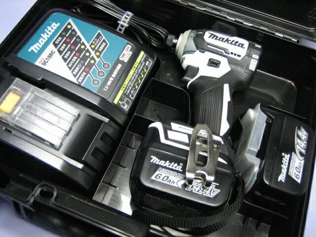 マキタ充電インパクトドライ� TD160DRGX (白) 14.4V �ッテリー(6.0Ah)2個・充電器・ケースセット
