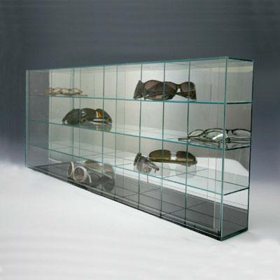 【送料無料】 ディスプレイケース/モデルカーケース/コレクションケース/フィギュアケース 20ガラス色 背面ミラータイプ
