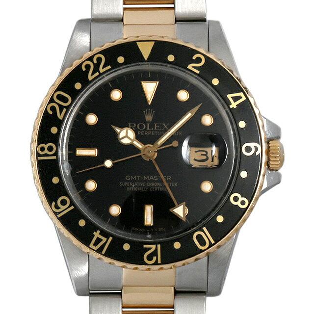 SALE ロレックス GMTマスター 93番 16753 ブラック メンズ(0AIMROAU0001)【中古】【腕時計】【送料無料】