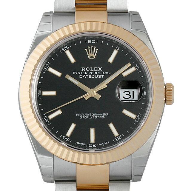 ロレックス デイトジャスト 126333 ブラック/バー メンズ(002GROAR0011)【新品】【腕時計】【送料無料】