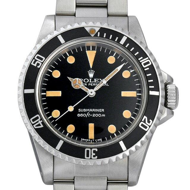 ロレックス サブマリーナ 5513 フチなし/マキシダイアル/マークII メンズ(0C8LROAA0001)【アンティーク】【腕時計】【送料無料】