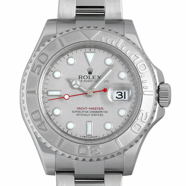 ロレックス ヨットマスター ロレジウム 116622 シルバー メンズ(001HROAU0179)【中古】【腕時計】【送料無料】