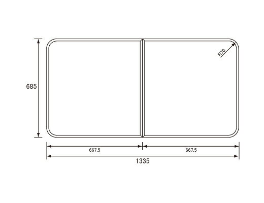 パナソニック Panasonic(松下電工 ナショナル) 風呂ふた(ふろふた フロフタ) 組みふた RL91053SC (RL91053Sの代替品) 685×1335mm