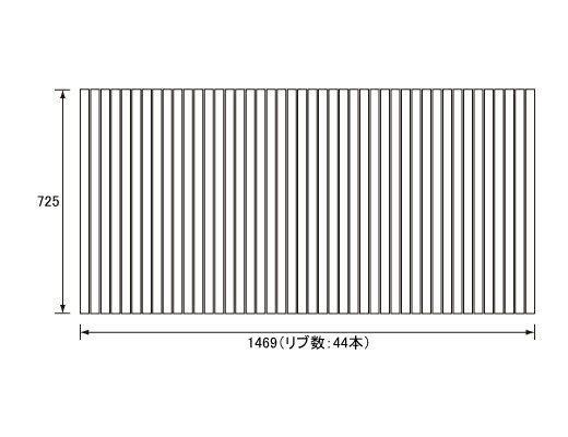 パナソニック Panasonic(松下電工 ナショナル) 風呂ふた(ふろふた フロフタ) 巻きふた RL91057C (RL91057の代替品) 725×1469mm (リブ数:44本)