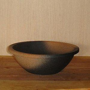 洗面ボウル 信楽焼 (和風 陶器製) ゆず肌 ボウル型 (手洗い鉢/洗面鉢/洗面ボール)