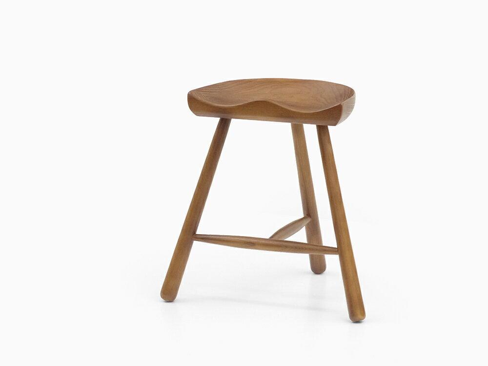 シューメーカーチェア Sサイズ ブラウン アッシュ材 スツール Shoemaker chair 北欧 ダイニングチェア 木製 無垢 イス 椅子 ウッド ジェネリックリプロダクト ウォールナットカラー