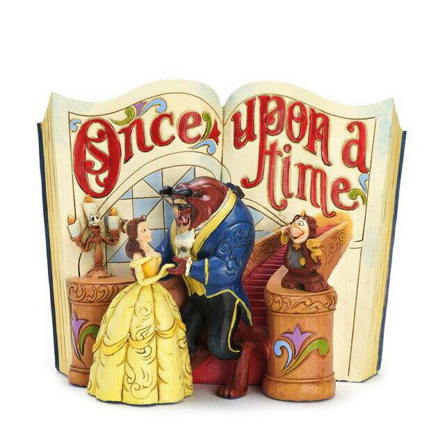 エネスコ enesco. ディズニー・トラディション Disney Traditions 美女と野獣の絵本 Beauty and the Beast Storybook 木彫り調フィギュア 美女と野獣 ギフト 出産祝い 男の子 女の子 おもちゃ 誕生日 1歳 2歳 3歳 4歳 5歳 6歳 男 女 入学 内祝い 赤ちゃん