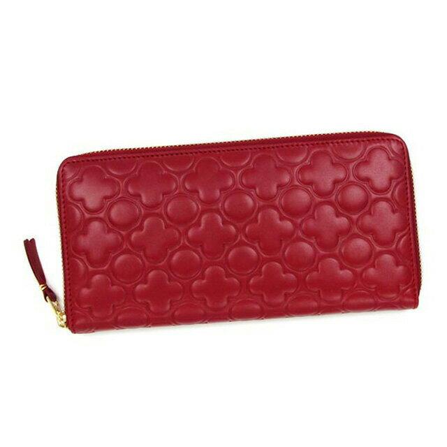 コムデギャルソン COMME des GARCONS 長財布 レッド 赤 レディース 財布 ラウンド 本皮 レザー ブランド おしゃれ 新作 新品 正規
