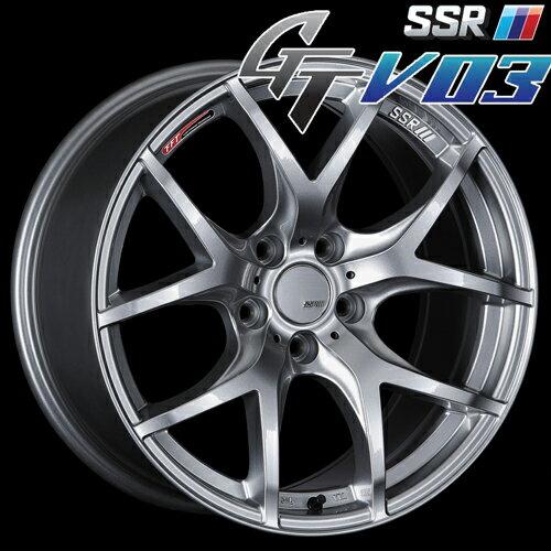 SSR GTV-03 アルミホイール(1本) 19x8.5 +38 114.3 5穴(グレアシルバー) / GT ジーティー 1ピース 1PIECE 1P GTV03 19インチ