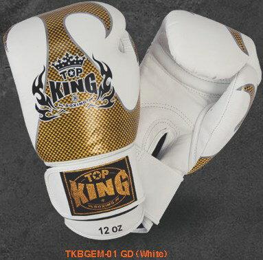 トップキング TOP KING キックボクシンググローブ タトゥ 金白 12オンス