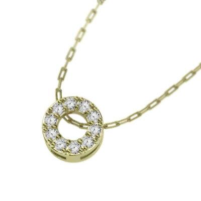 ペンダントネックレス k10ゴールド 天然ダイヤモンド 4月誕生石 約6mmサイズ (ホワイトゴールド イエローゴールド ピンクゴールド) 【楽ギフ_包装】【送料無料】