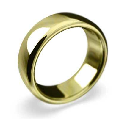 【送料無料】【楽ギフ_包装】甲丸の指輪 メンズ スタンダード ゴールドk10 約7mm幅 大きめサイズ 厚さ約2mm (ホワイトゴールド イエローゴールド ピンクゴールド)
