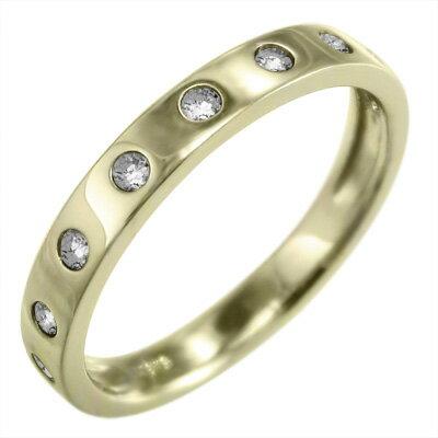 【送料無料】【楽ギフ_包装】リング ゴールドk10 天然ダイヤモンド 4月誕生石 9ピース (ホワイトゴールド イエローゴールド ピンクゴールド)