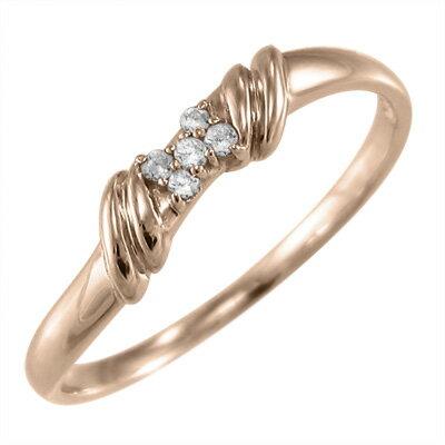 指輪 18金ゴールド 天然ダイヤモンド 4月誕生石 約0.04ct (ホワイトゴールド イエローゴールド ピンクゴールド) 【楽ギフ_包装】【送料無料】