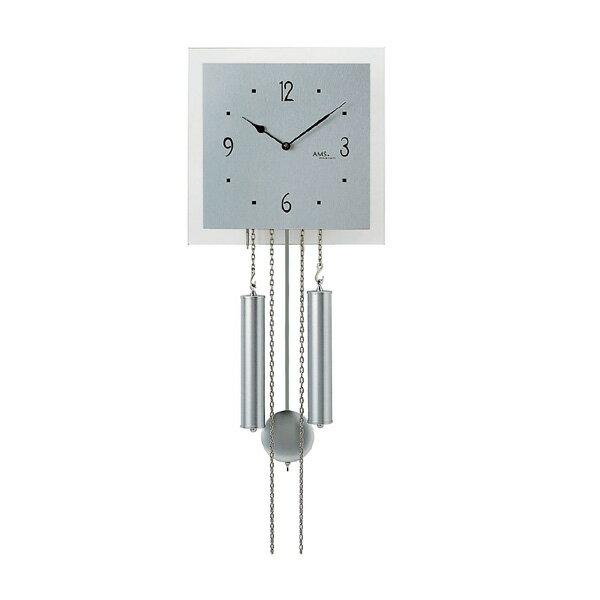 【正規輸入品】ドイツ アームス AMS 354 機械式 掛け時計 (掛時計) ベルつき シルバー [大型サイズ] 【記念品 贈答品に名入れ(銘板作成)承ります】【熨斗印刷承ります】