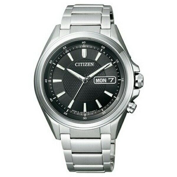 シチズン アテッサ AT6040-58E CITIZEN ATTESA エコ・ドライブ 電波時計 ブラック メンズ腕時計 【長期保証5年付】