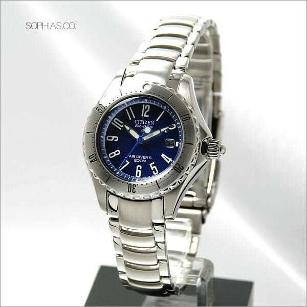 シチズン プロマスター PMA56-2831 マリン 200mダイバー エコ・ドライブ ブルー レディース腕時計 【長期保証5年付】