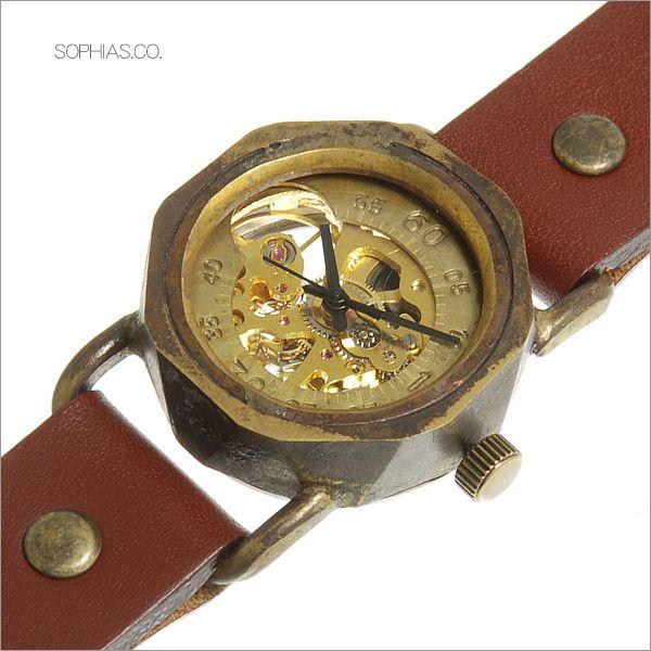 手作り腕時計 ヴィー vie WB-003-BR 機械式手巻き ブラウンレザー