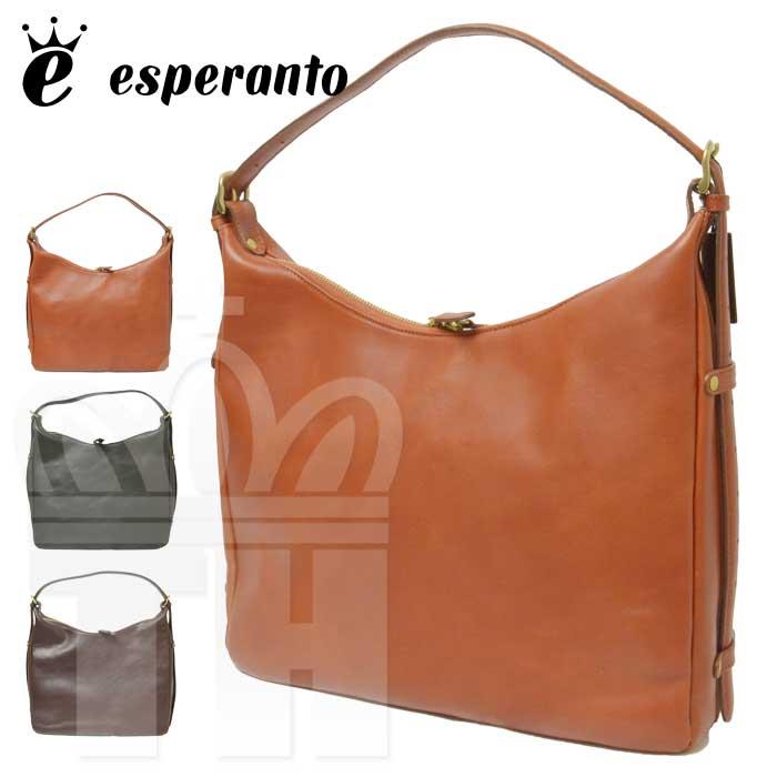 エスペラント esperanto バッグ「MONTANA ESPERANTO LEATHER 2WAY SHOULDER BAG CURVE モンタナエスペラントレザー 2ウェイ ショルダーバッグ (カーブ)」ESP-6346【RCP】