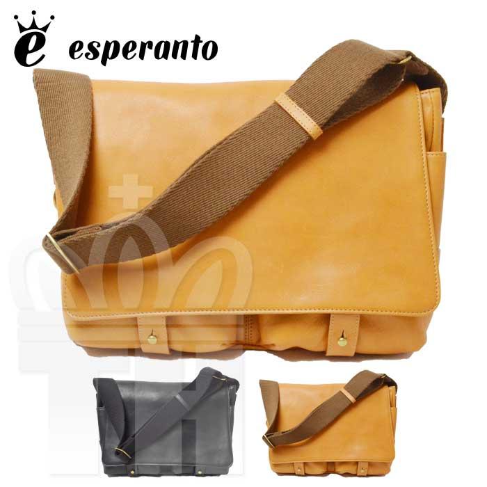 エスペラント esperanto 高品質 レザー 革 バッグ「BUGATTI SHOULDER BAG ブガッティレザー ショルダーバッグ」メンズ レディース ユニセックス 日本製 ESP-6374【RCP】