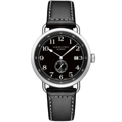 送料無料 HAMILTON ハミルトン 腕時計 カーキKHAKI ネイビーパイオニア40mm 自動巻き H78415733 国内正規品 メンズ  防水 皮ベルト ブラック 機械式自動巻 ギフト 誕生日 プレゼント