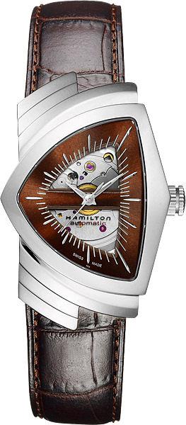 送料無料 HAMILTON ハミルトン 腕時計 ベンチュラ オートマチック H24515591 正規品 メンズ 防水 オートマチック ブラウン 皮ベルト ギフト 誕生日 プレゼント