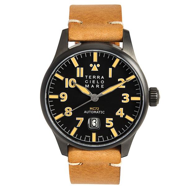 TERRA CIELO MARE テッラ�エロマーレ AVIATORE アヴィアトーレ MK2 PVD 腕時計 自動巻� TC7103PVD3PA 国内正�� メンズ