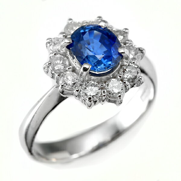 指輪 ダイヤモンドリング 鑑別書付 プラチナ PT900 サファイア 9月誕生石 r3121sp 新品 お誕生日のに ダイヤモンド ダイアモンド サファイヤ 1点もの(bkp30)305000 (c_)