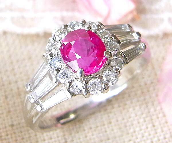 ファッションリング プラチナ PT900 ルビー(7月誕生石) ダイヤモンド 指輪 r395 レディース パワーストーン 厄除けのお守り効果(赤色) ジュエリー 天然石 宝石 ダイアモンド 1点もの(bkp30)498000 (c_)